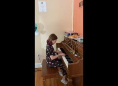 Lydia playing Impertinence by Handel