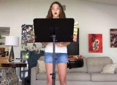 Mia singing On My Own