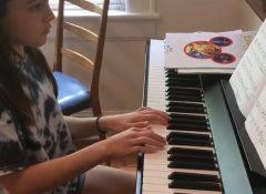 Stella playing Baroque Hoedown