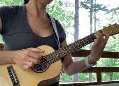 Huyen playing Minuet by Krieger