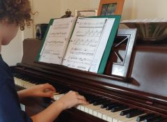 Iris playing Mozart Sonata K545 first movement - the exposition