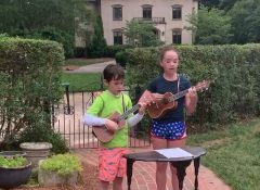 """Jane and Hal singing """"This land is your land"""" Memorial day 2020"""