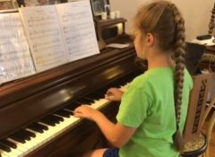 Pascale playing Allemande by JH Schein