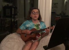 """Ava singing """"The Show"""""""